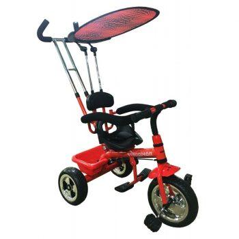 Baby Mix Red tricikli tolókarral és lábtartóval