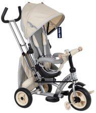 Baby Mix 360 Turbo tricikli tolókarral és lábtartóval bézs színben (360°-ban forgatható ülés)