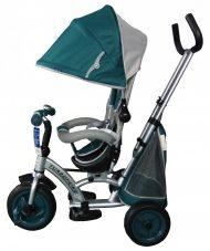 Black November - Baby Mix 360 Turbo tricikli tolókarral és lábtartóval zöld színben (360°-ban forgatható ülés)