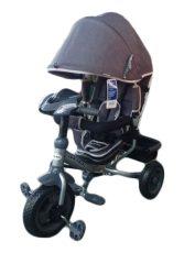 Baby Mix Lux Trike tricikli tolókarral és lábtartóval sötétszürke színben (zenélő műszerfal és fények)