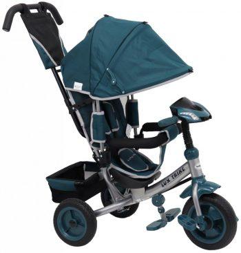 Baby Mix Lux Trike tricikli tolókarral és lábtartóval zöld színben (zenélő műszerfal és fények)