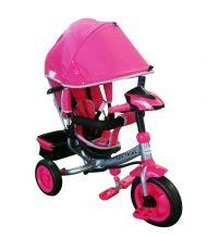 Black November - Baby Mix Lux Trike tricikli tolókarral és lábtartóval lila színben (zenélő műszerfal és fények)