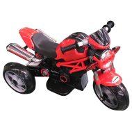 Háromkerekű elektromos sportmotor piros színben