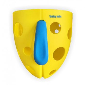 Fürdetőjáték tartó sárga színben