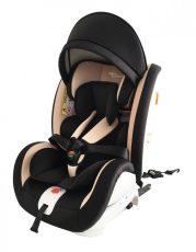 ISOFIX-es 360°-ban forgatható Mama Kiddies Rotary biztonsági autósülés (0-36 kg) fekete-bézs színben + ajándékok