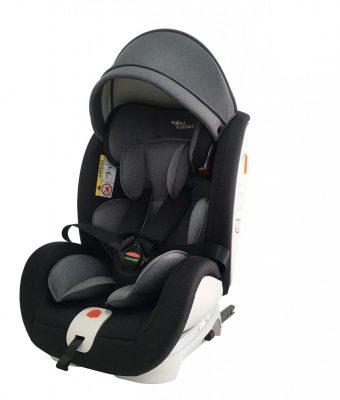 ISOFIX-es 360°-ban forgatható MamaKiddies Rotary biztonsági autósülés (0-36 kg) fekete-sötétszürke színben + ajándékok
