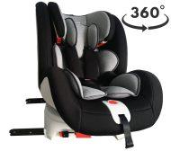 ISOFIX-es 360°-ban forgatható MamaKiddies Rotary biztonsági autósülés (0-36 kg) fekete-szürke színben + ajándék
