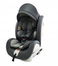 ISOFIX-es 360°-ban forgatható Mama Kiddies Rotary biztonsági autósülés (0-36 kg) szürke színben + ajándékok
