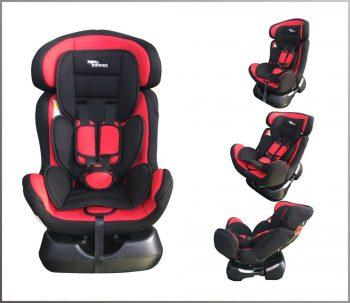 Mama Kiddies Safety Star autósülés (0-25 kg) piros-fekete színben