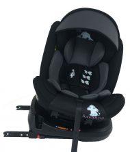 ISOFIX-es 360°-ban forgatható Mama Kiddies Rolling Safari biztonsági autósülés (0-36 kg) Jumbo mintával + ajándékok