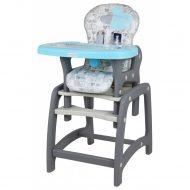 Baby Mix 2az1-ben etetőszék és asztal kék színben