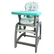 Baby Mix 2az1-ben etetőszék és asztal zöld színben