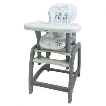 Baby Mix 2az1-ben etetőszék és asztal szürke színben