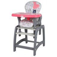 Baby Mix 2az1-ben etetőszék és asztal pink színben