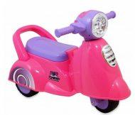 Lábbal hajtható pink háromkerekű motor