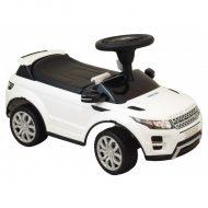 Range Rover zenélő lábbal hajtható autó fehér színben