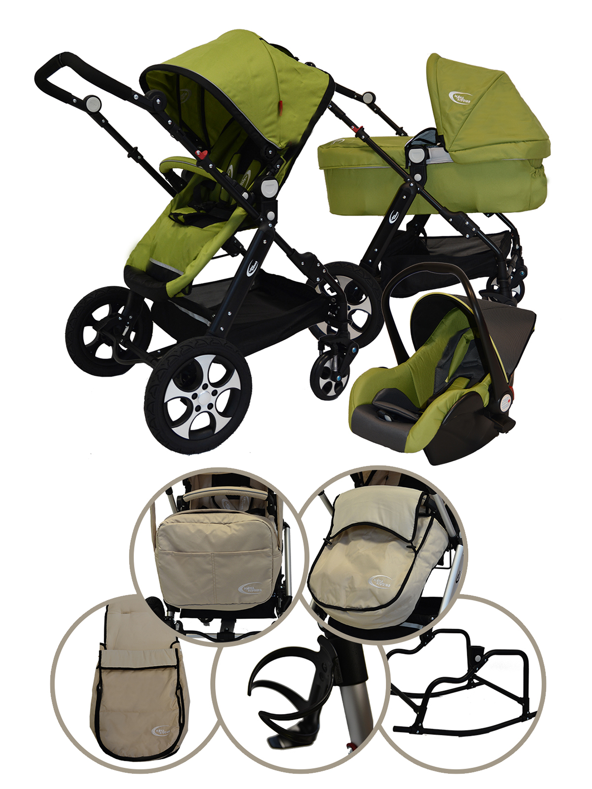 MamaKiddies VIP Baby 4az1-ben babakocsi bézs színben ... ae2da7544c