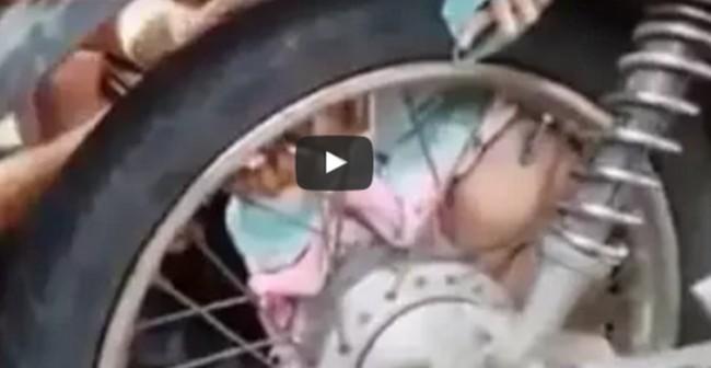 kisbaba baleset